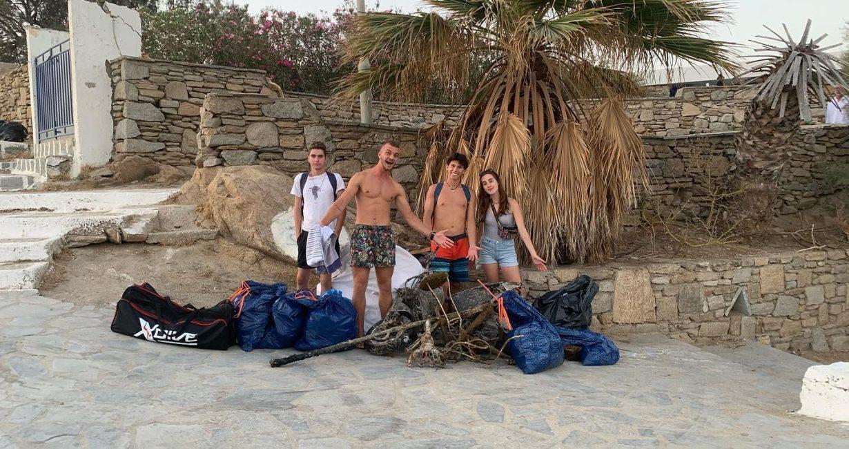 Ocean Allies: Μία εθελοντική ομάδα νέων που καθαρίζουν τις παραλίες της Μυκόνου