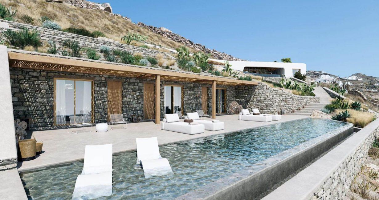 Η αρχιτεκτονική της «White Rock Villa» στη Μύκονο κόβει την ανάσα