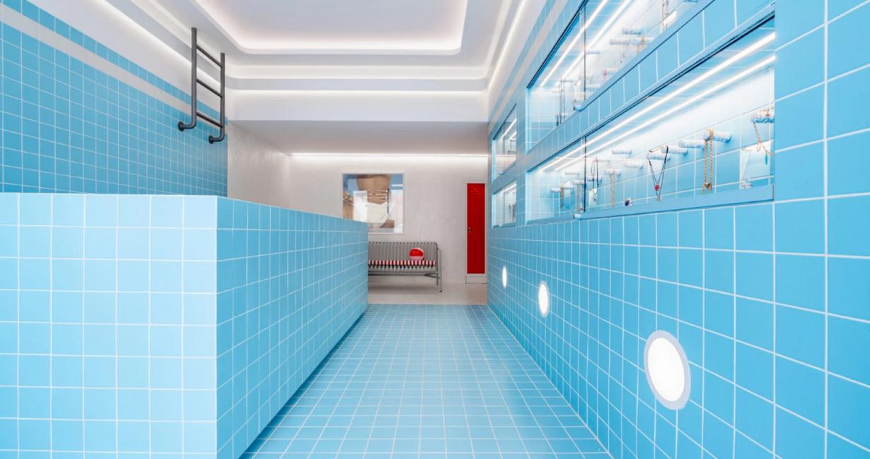 Ένα κοσμηματοπωλείο στην καρδιά της Μυκόνου θυμίζει πισίνα από τη δεκαετία του 1960