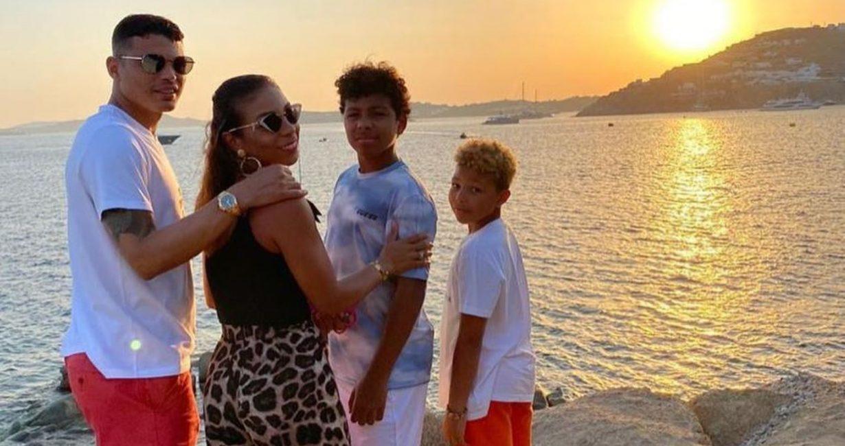 Ο πρωταθλητής Ευρώπης Thiago Silva στη Μύκονο με την οικογένειά του